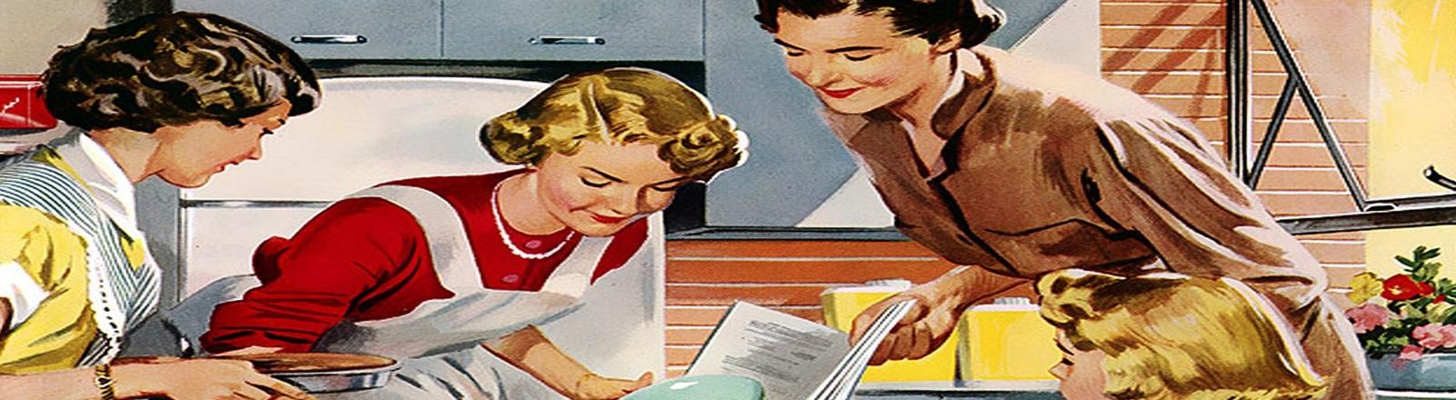 Femmes au foyer rétro
