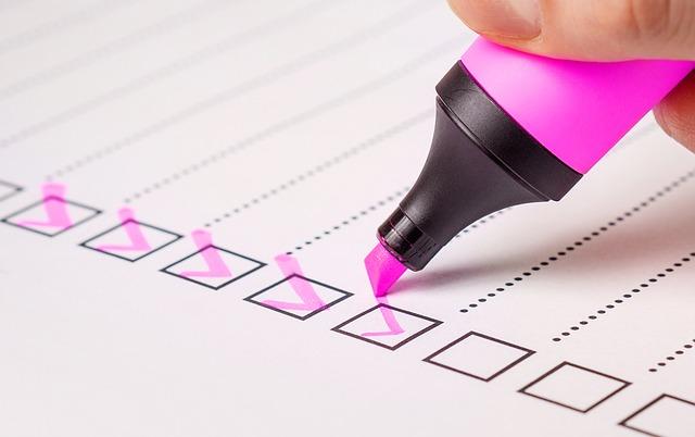 checklist illustration de la préparation et de l'anticipation