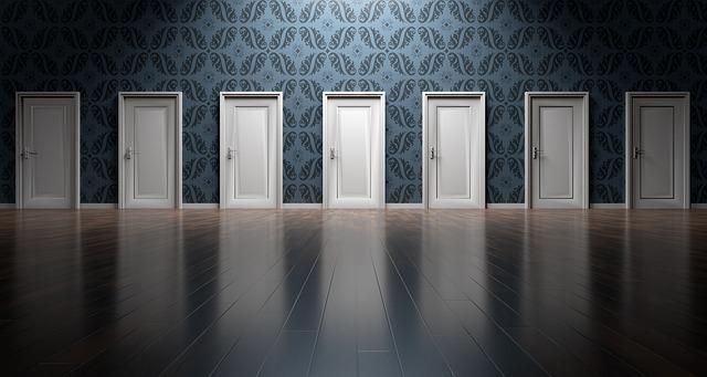 nombreuses portes illustration des choix qui se présentent