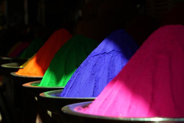 poudre de couleurs